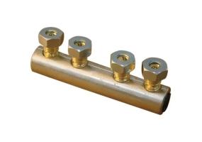 Tracon Szakadófejes csavaros alumínium toldóhüvely 16-70mm2, 2×(2×M12) AT16-70CS