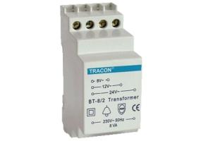 Tracon Biztonsági (csengő) transzformátor 230V / 4-8-12V AC BT-8/1