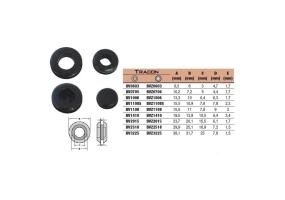 Tracon Kábelbevezető, nyitott, gumi D=6mm, d=3mm BV0603