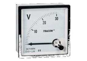 Tracon Analóg egyenáramú alapműszer sönt méréshez 72×72mm, DC DCVM-72B