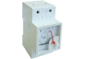Tracon Sínre pattintható analóg egyenáramú voltmérő 100V DC DCVMS-100