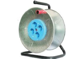 Tracon Üres fém kábeldob 4×csatlakozóalj KD-DOB