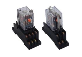 Tracon Miniatűr relé 12V DC / 2×CO, (3A, 230V AC / 28V DC) RM09-12DC