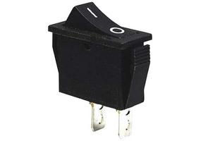 Tracon Készülékkapcsoló, BE-KI, fekete (0-I felirat) 16(6)A, 250V AC TES-13