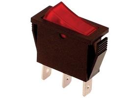 Tracon Készülékkapcsoló, BE-KI, piros-világító 16(6)A, 250V AC TES-21
