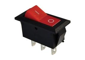 Tracon Készülékkapcsoló, váltó, piros (0-I felirat) 16(6)A, 250V AC TES-22