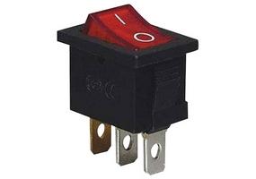 Tracon Készülékkapcsoló, BE-KI, piros-világító (0-I felirat) 16(6)A, 250V AC TES-33