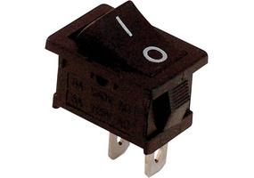 Tracon Készülékkapcsoló, BE-KI, fekete (0-I felirat) 16(6)A, 250V AC TES-34