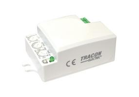 Tracon Mozgásérzékelő, mikrohullámú, lámpába 230 VAC, 5,8 GHz, 360°, 1-6 m, 10 s-12 min, 3-2000lux TMB-L01D