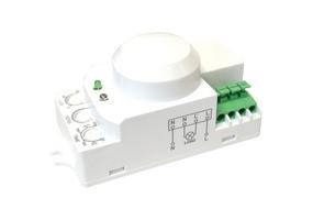 Tracon Mozgásérzékelő, mikrohullámú, lámpába 230 VAC, 5,8 GHz, 360°, 1-8 m, 10 s-12 min, 3-2000lux TMB-L01G
